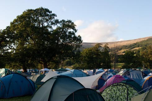 Green Man festival camp site.