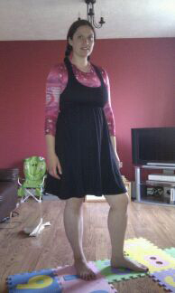black pregnancy festival dress