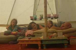 morning in Hotel Bell Tent
