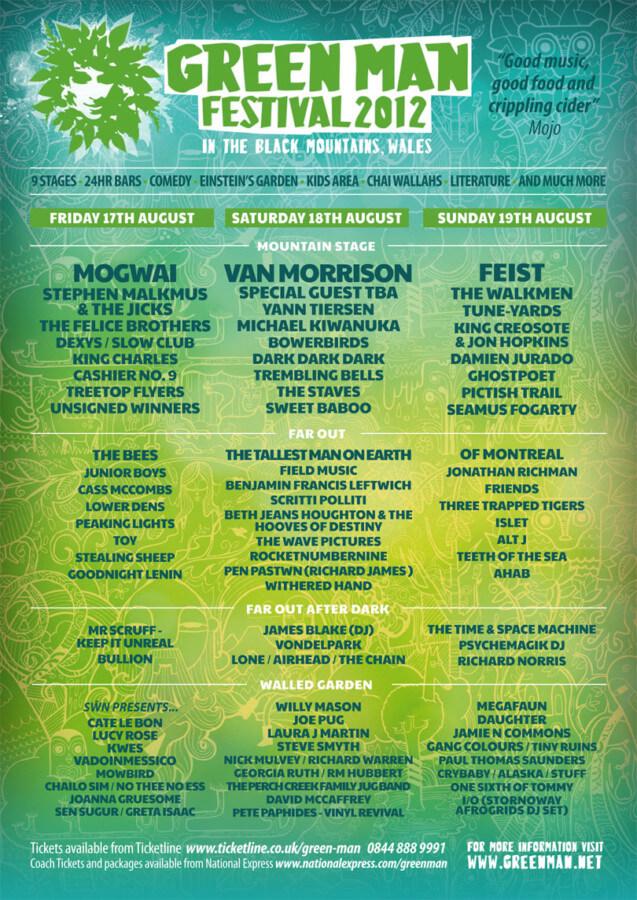 green man lineup 2012