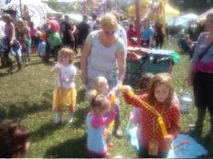 vicki and festival kids