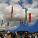 womad festival flags 2012