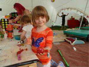 Playdough Workshop chilled in a field 2012 (c) Naomi Jones