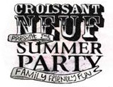 croissant neuf summer party festival logo
