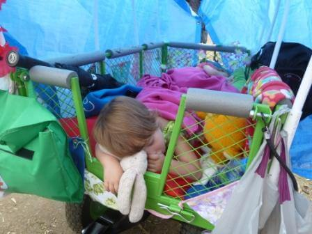 Sleeping in the wagon