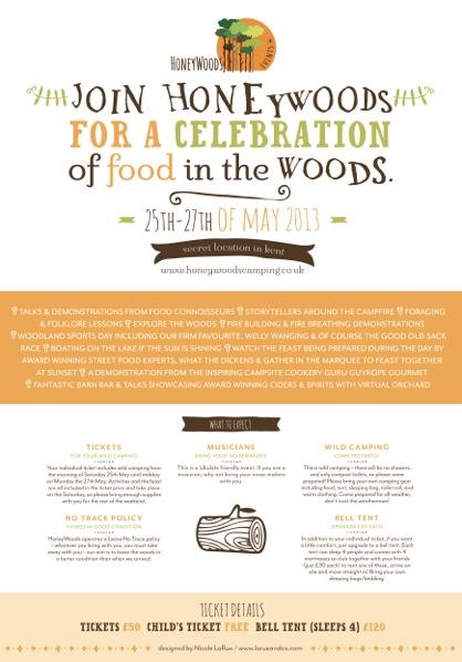 HoneyWoods Feast flyer 2013