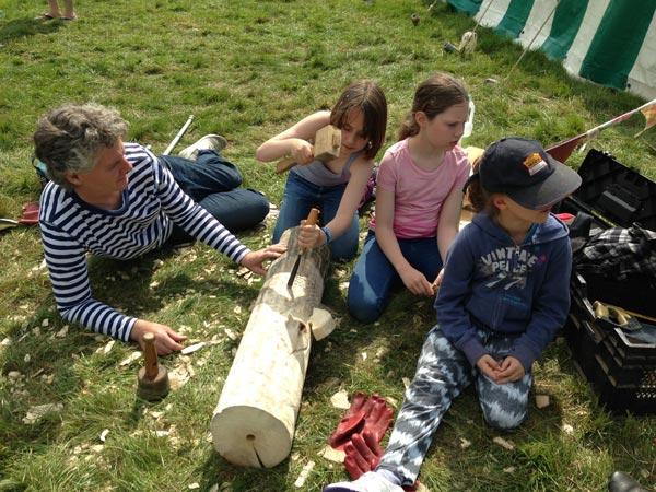 Totem Carving - a team effort
