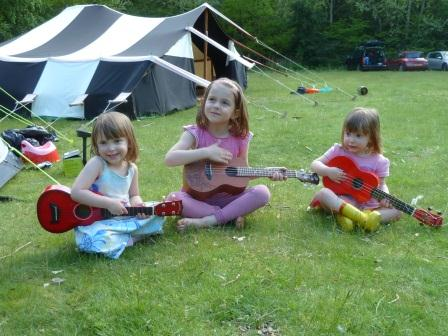 My three daughters starting to learn the ukulele in 2013
