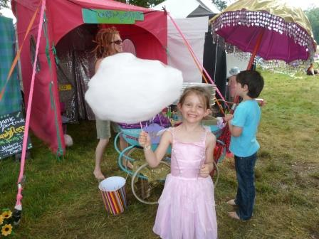 Nothing makes a child happier than freshly made candy floss!