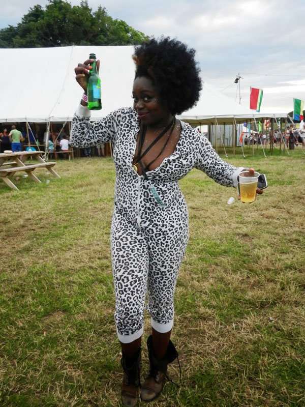 Miss Baby Sol enjoying being part of the Standon Calling crowd.