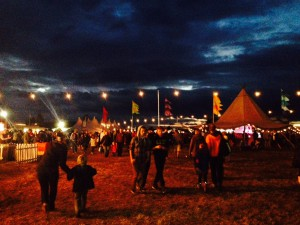 Feastival at night