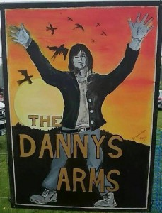 This was the pub sign named after Danny.