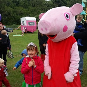 Peppa Pig made regular appearances (don't mention the sausages!)