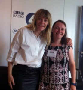 Edith Bowman and Naomi Jones at BBC Radio 4 Studio