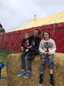Catherine Prescott with Cerys (11) and Deian (7)