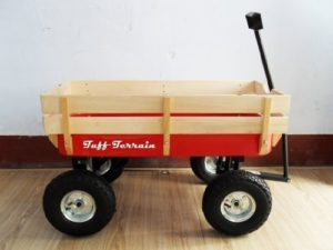 Large wooden festival trolley