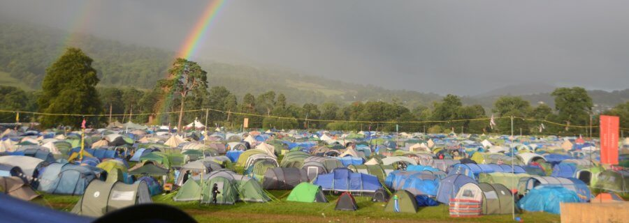Green Man 2016 - Family camping rainbow