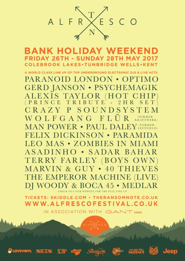 Alfresco Festival 2017 Poster