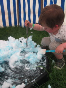 Messy play at Geronimo