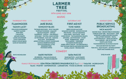 Larmer Tree Festival 2018 Line Up