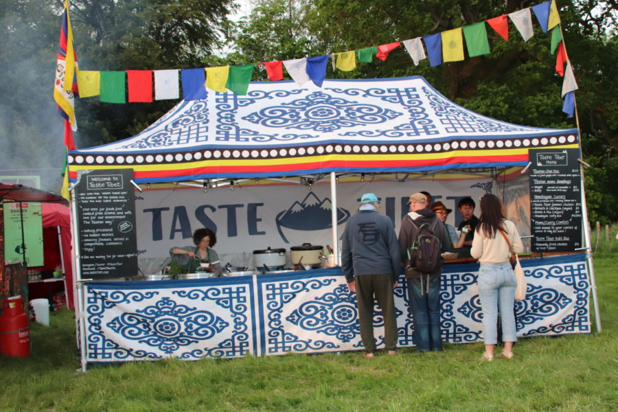 Taste stall at wood festival 2018