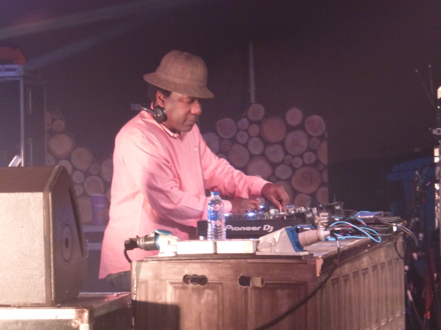 Norman Jay spinning disks at the Shindig Weekender 2018