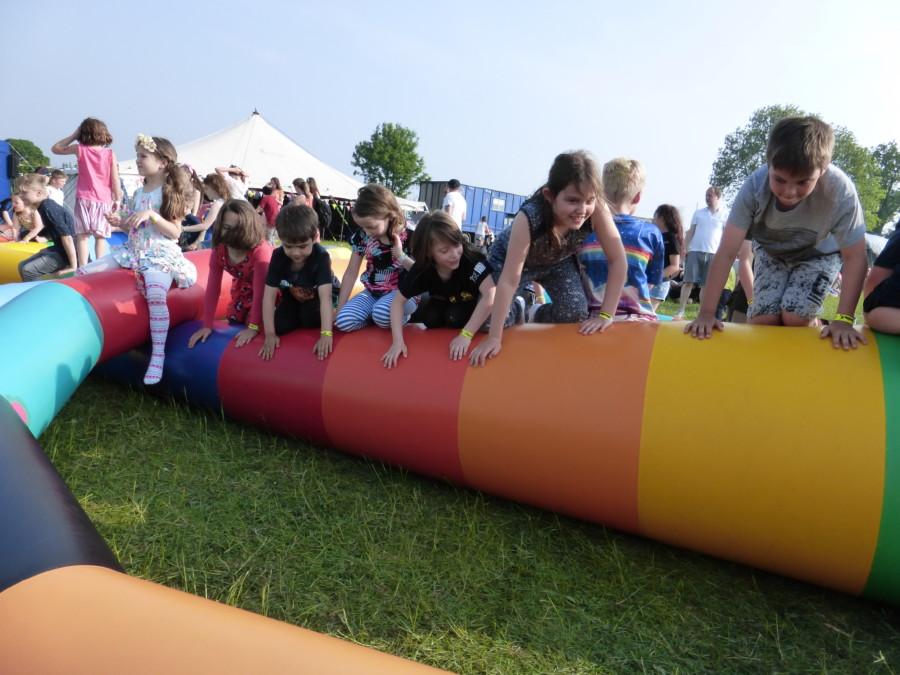 Inflatables at Shindig Weekender