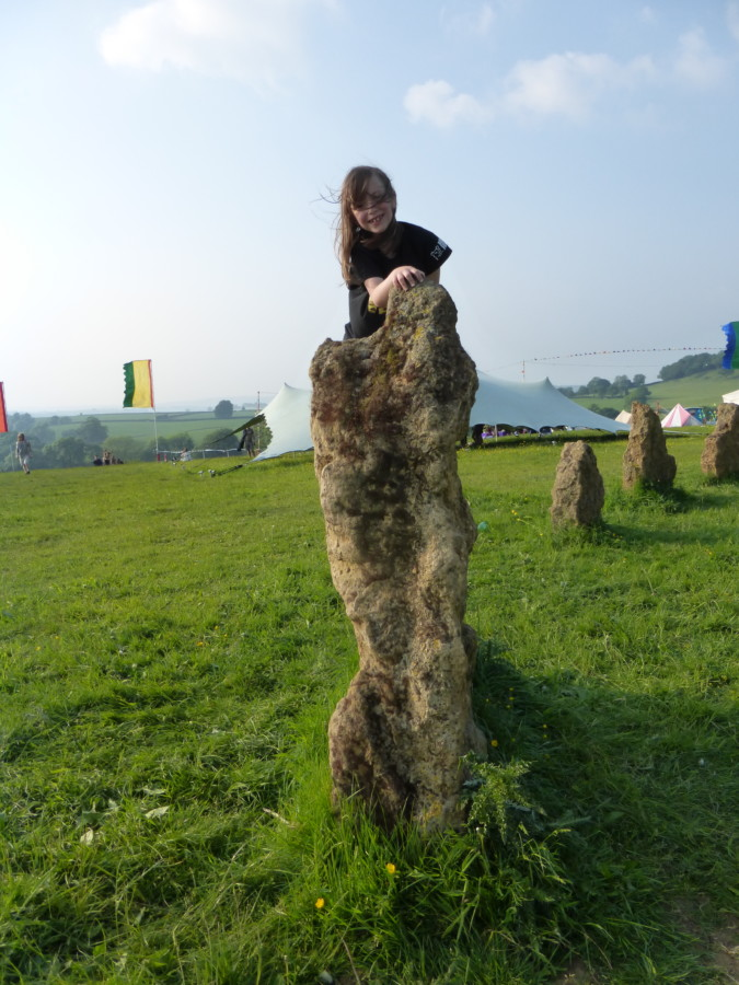Shindig weekender - Amelie climbed the stone circle