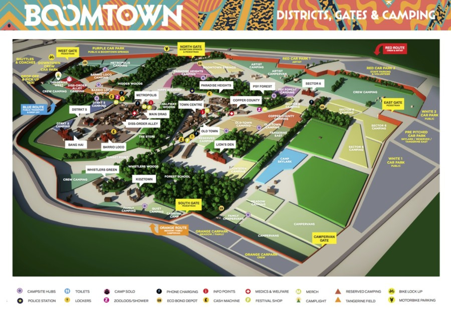 Map of Boomtown 2018
