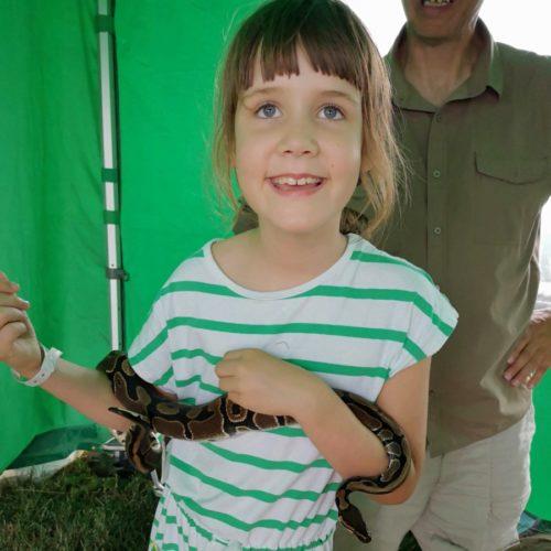 Chagstock 2018 holding a snake