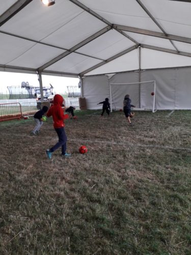 Indoor Football sessions at CarFest