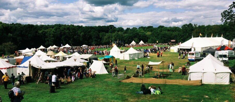 England's Medieval Festival 2018 landscape