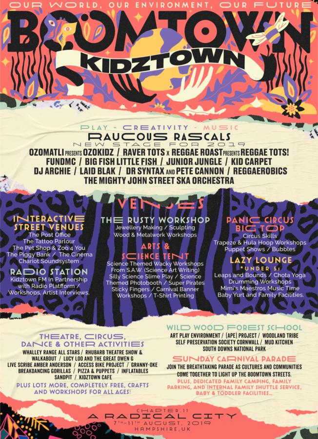 Boomtown Kidztown 2019 lineup
