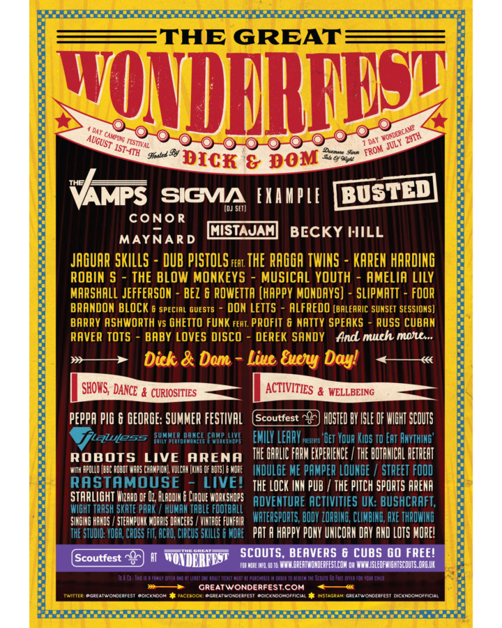 Wonderfest line up 2019