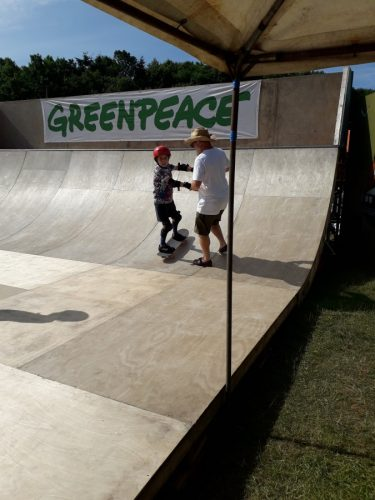 Skateboarding at Camp Bestival