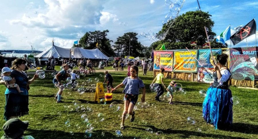 Green gathering festival review bubbles