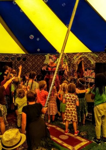 Green gathering festival dance