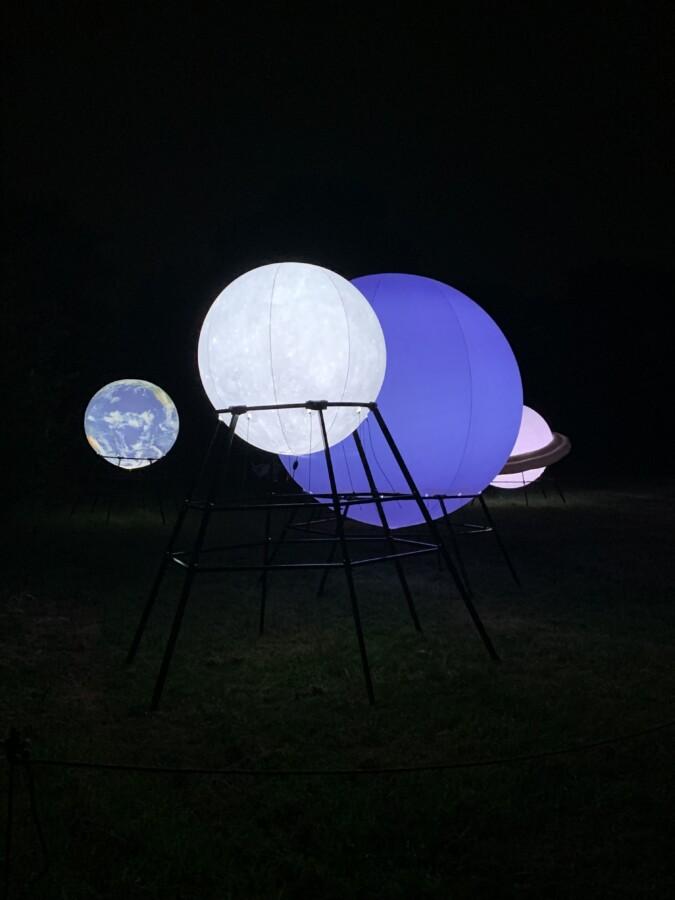 Planetary installation at Timber Festiva;